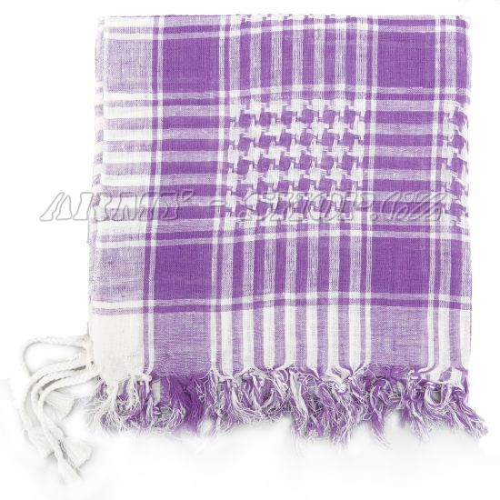 49c034de1f4 Palestinský šátek - bílofialový