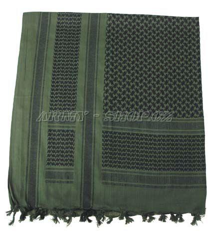Palestinský šátek - zelenočerný HRUBÝ  73f723abf3