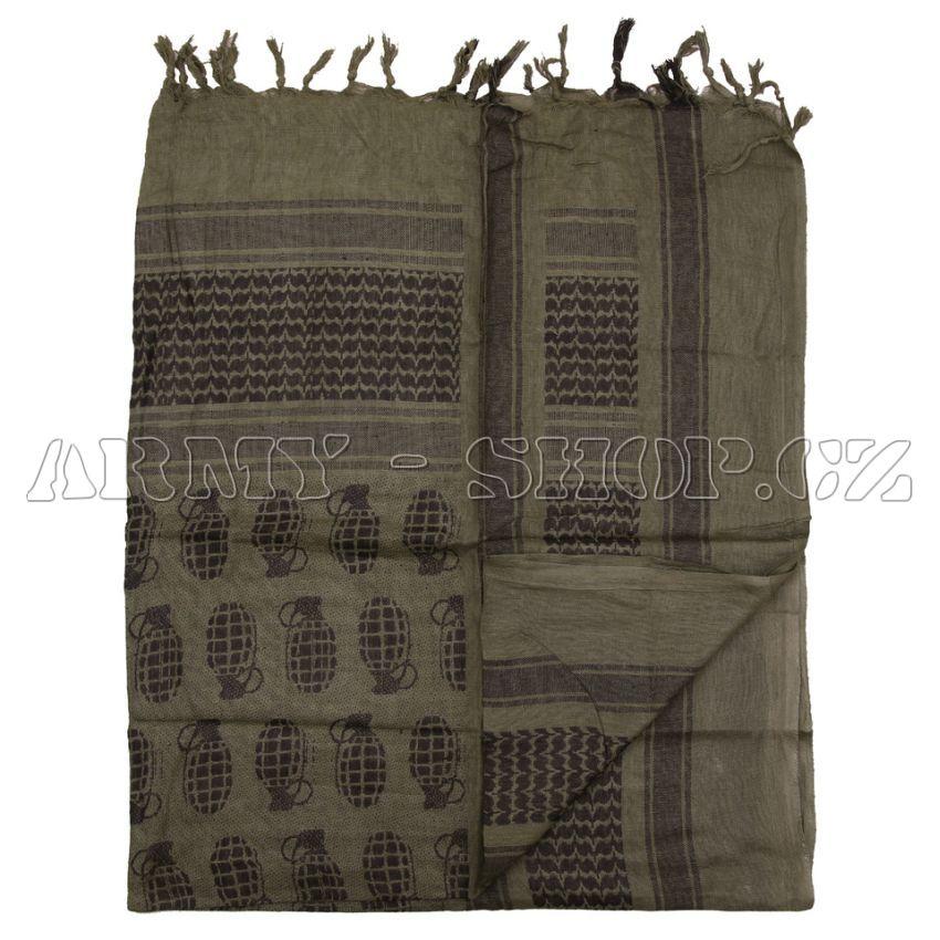 Šátek palestina zelený GRANÁT  9dea4ff895