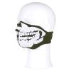 Maska obličejová SKULL 3D neopren zelená