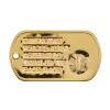 ID známka MEDICAL Zlatá s ražbou