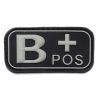 Nášivka 3D PVC B+ positive