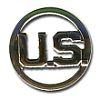 Odznak US - kulatý - stříbrný