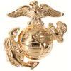 Odznak USMC zlatavý malý 2ks