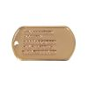 Identifikační známky US zlaté s ražbou