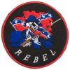 Nášivka Rebel kulatá
