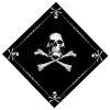 Šátek JOLLY ROGER černý