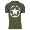 Triko s potiskem ARMY STAR olivové
