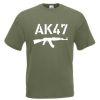 Triko s potiskem AK-47 white
