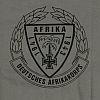 Triko s potiskem - DEUTSCHES AFRIKAKORPS - polní šeď