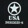 Triko s potiskem - USA hvězda - Černé