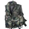 US taktická vesta s pevným límcem - Woodland