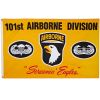 Vlajka AIRBORNE 101.výsadková žlutá