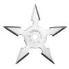 Hvězdice NINJA chrom - 5 cípů