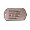 Identifikační známky US stříbrné s ražbou