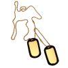 ID známka US dog tags Zlatá