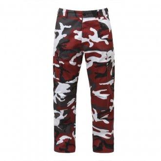 Kalhoty Dětské MIL-TEC red camo
