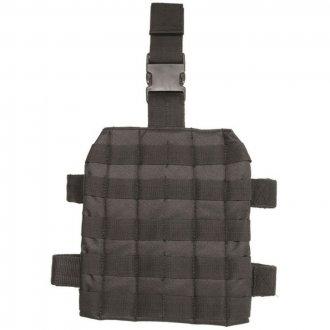 Taktický MOLLE stehenní adaptér černý