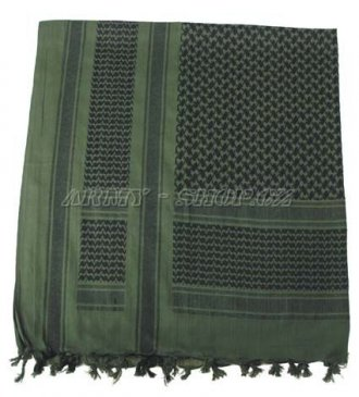 Palestinský šátek - zelenočerný HRUBÝ