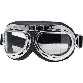 Letecké brýle - Chromované obruče