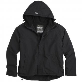 Bunda windbreaker zipper černá
