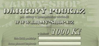 Dárkový poukaz v hodnotě 1000Kč