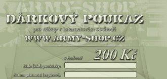 Dárkový poukaz v hodnotě 200Kč