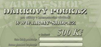 Dárkový poukaz v hodnotě 500Kč