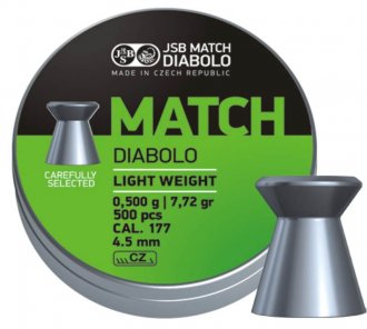 Diabolo JSB Match pistole 500ks cal.4,5mm