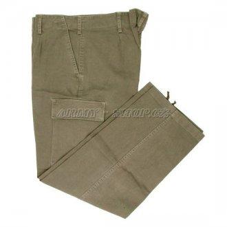 Kalhoty kapsáče MOLESKIN - olivové