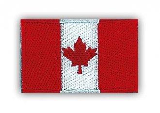 Vyšívaná vlajka - Kanada - nažehlovací