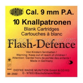 Nábojka Flash Defence WADIE pistolová 9mm 10ks
