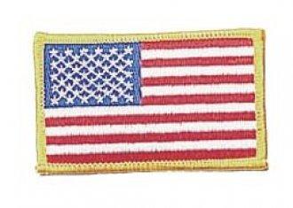 Vyšívaná vlajka - USA barevná - nažehlovací - 75x50mm