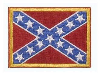 Vyšívaná vlajka - Konfederace - nažehlovací