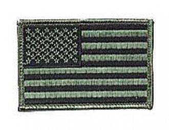 Vyšívaná vlajka - USA bojová - nažehlovací