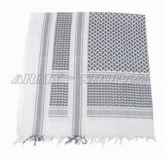 Palestinský šátek černobílý TENKÝ