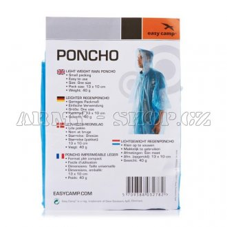 Poncho Easy Camp BLUE