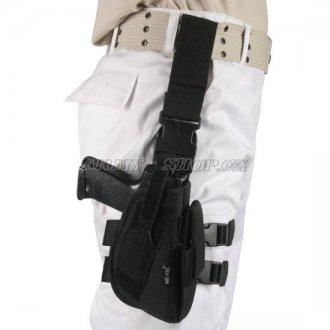 Pouzdro pistolové STEHENNÍ  KLASIC  - Černé
