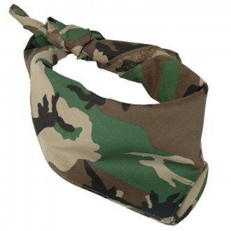 Šátek maskovací - Woodland
