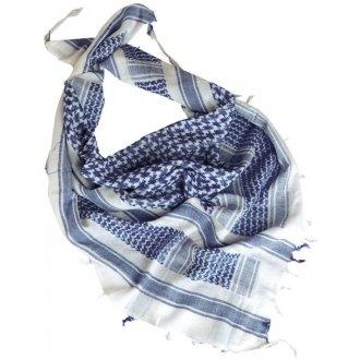 Palestinský šátek - bílomodrý HRUBÝ