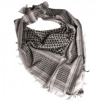 Palestinský šátek černobílý HRUBÝ