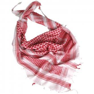 Palestinský šátek - bíločervený HRUBÝ