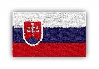 Vyšívaná vlajka - Slovenská Republika - nažehlovací