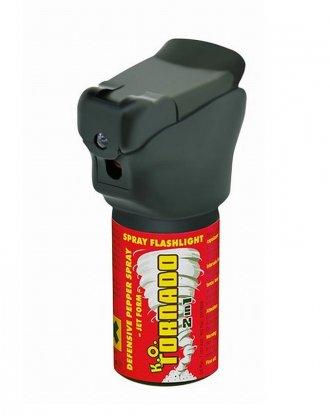 Obranný plyn K.O.TORNADO se svítilnou - 40ml