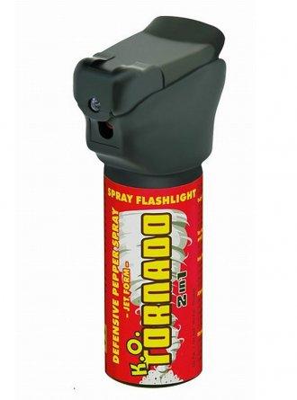 Obranný plyn K.O.TORNADO se svítilnou - 50ml