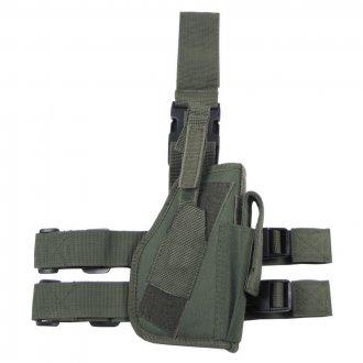 Pouzdro pistolové STEHENNÍ  KLASIC  - Olivové