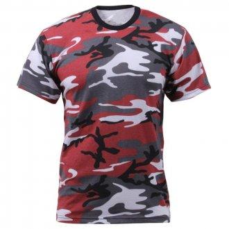 Tričko - RED CAMO