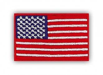 Vyšívaná vlajka - USA barevná - nažehlovací - 35x55mm