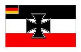 Vlajka Deutsches Reich + kříž