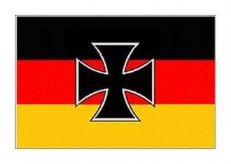 Vlajka Deutschland - s křížem